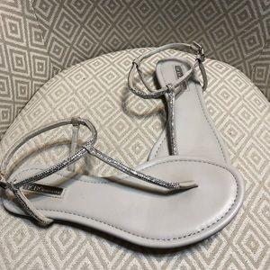BCBGeneration Light Gray T-strap Sandals
